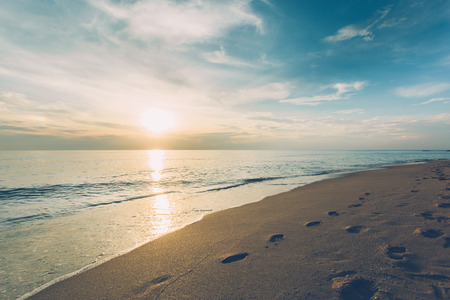 Nature ocean outdoors on a bright blue. Beautiful background in the summer. Seascape. Sandy nature tourism season. Stock Photo - 125538939
