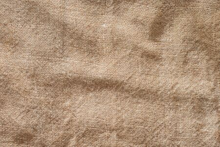 Brown sack cloth texture background with copy area Natural brown sack woven background Foto de archivo