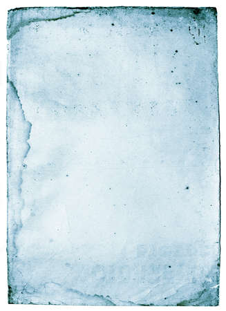 oldish: Old, antique spooky paper with spots. Image in cold , blue tone Stock Photo