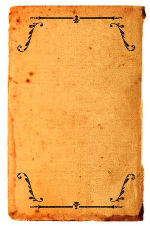 ornated: Vecchia ruggine con carta spot ornata da antichi modello Archivio Fotografico