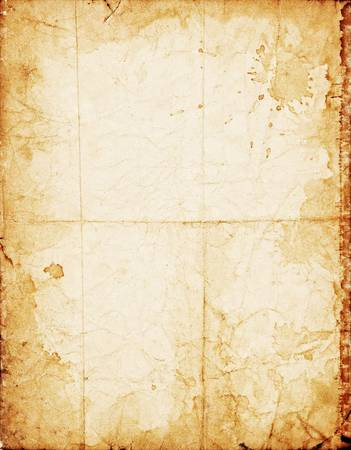 Old dirty crumpled vintage paper with stained dark borders Stock Photo - 3343333