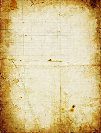 creases: Grunge squared paper with dark stained frame. Big size texture divided by creases to many parts.
