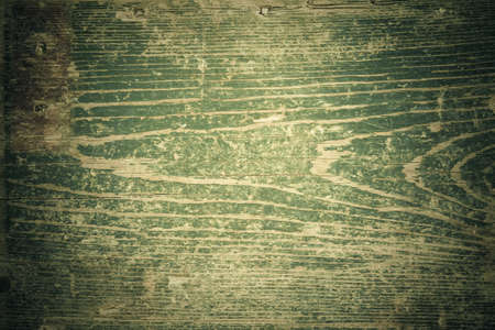 Green dark gunge wooden texture with shabby torn textured surface and dark borders Stock Photo