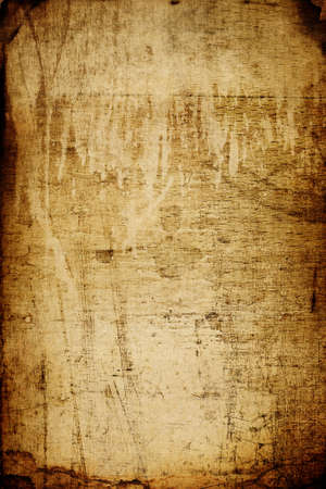 Beautiful aged grunge texture clip-art (wood+ paper). Scratched crackly dark borders and shabby top part Stock Photo
