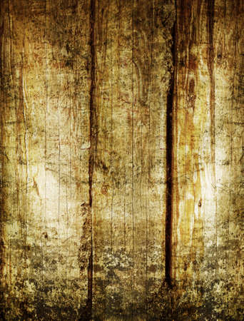 Saturated vibrant grunge wooden planks background with aged effect