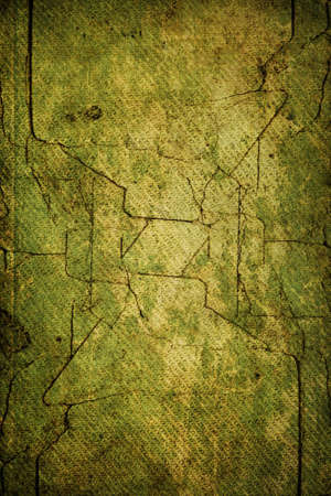 Vintage colors cracked dry nature background with moss, mesh textured and with dark borders. Use in your design!