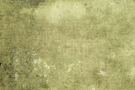 Green shabby dirty stained canvas background Stock Photo