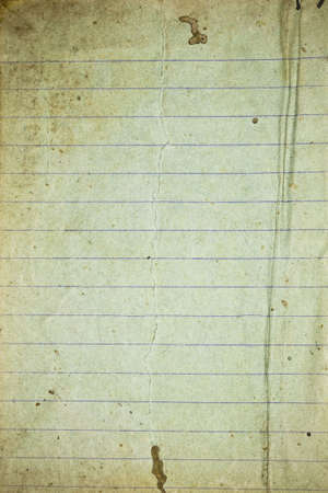 Dirty grunge retro lined paper Stock Photo