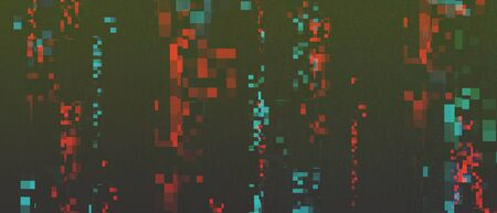 Falling pixelated stripes abstract background. Matrix, cyberspace, futuristic backdrop