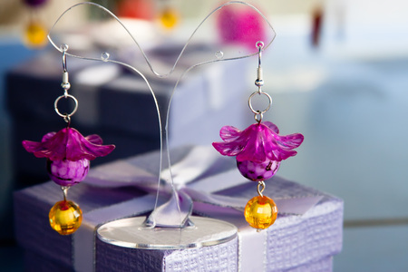 keychains: Handmade jewelry and keychains with colorful glass beads