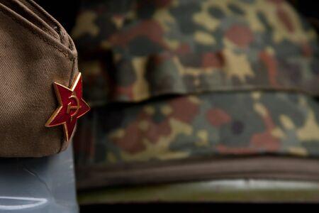 seconda guerra mondiale: Russo Army Cap lato militare in seconda guerra mondiale