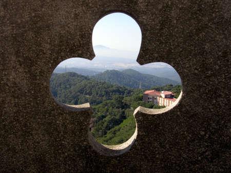 tibidabo:           View From The Temple Of Tibidabo - Bracelona Stock Photo