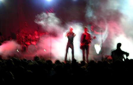 rock concert: Falta de definici�n De un Concierto De la Roca Foto de archivo