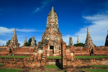 wat chai wattana ram is the temple in ayutthaya photo