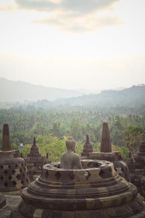 wonderfull: Borobudur  is one of the wonders Stock Photo