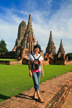 Ayutthaya - Thailand: the girl May 25, 2555 at Wat Chaiwatthanaram Ayutthaya , Thailand