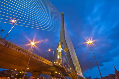 viii: Rama VIII Bridge evening with light