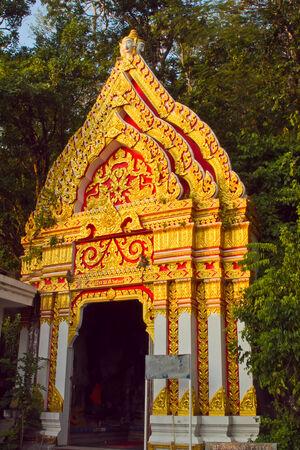 khao: Golden arches Wat Khao Changpran