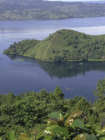 crater lake: The crater Lake Toba, Indonesia