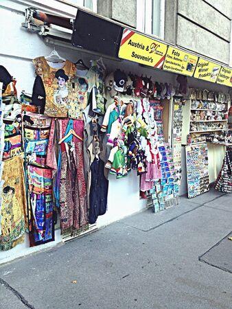 apparel: Shop for souvenirs along the sidewalk