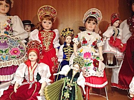 apparel: Small doll store for souvenir