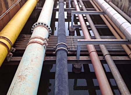 industry: Pipeline to transport and industry Stock Photo