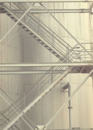 iron: Iron staircase in the plant industry Stock Photo