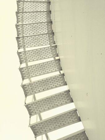 white: White stairs  Stock Photo