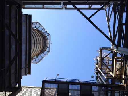 industry: Stack steel structure of the plant Stock Photo