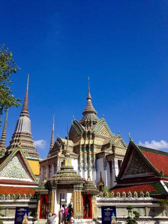 architecture: Wat Pho architecture building in beautiful