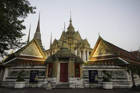 wat pho: Phra Mondop architecture beautiful in Wat Pho Stock Photo