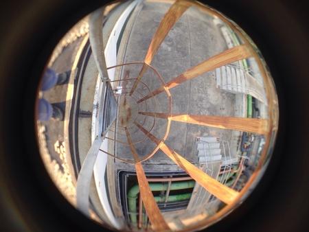 iron: Iron staircase-up-gard cover.