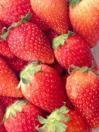 colour: Picture closeup red fresh strawberry