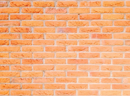 colour: orange brick wall Stock Photo