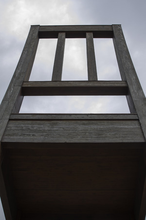Threelegged chair at Geneva Switzerland