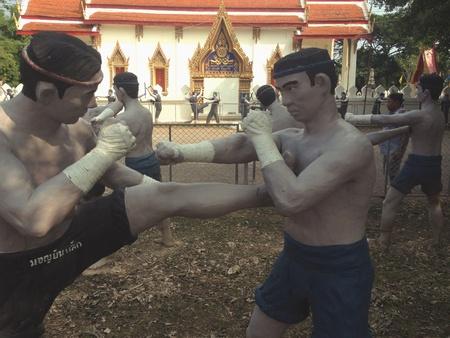 art: Sculpture art Thai Boxing training