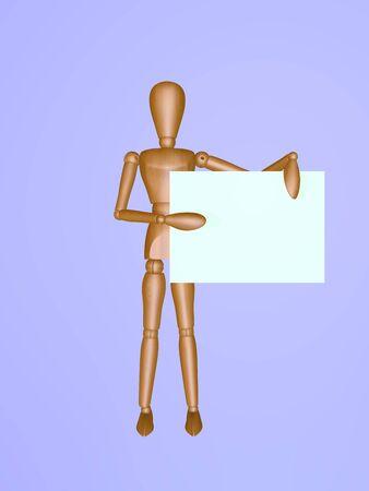 leeg bord: Menselijke figuur met een leeg bord