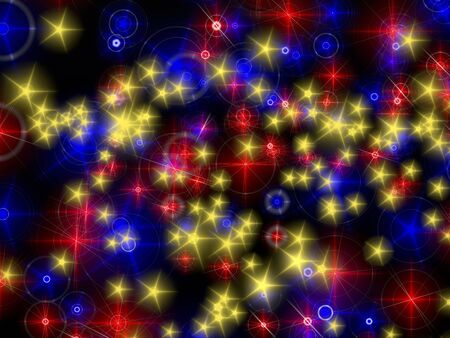background of blue,red, and yellow golden particle Stock Photo - 14004438