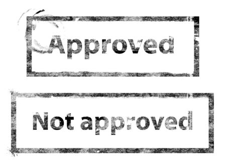 approved stamp Stock Photo - 2800790