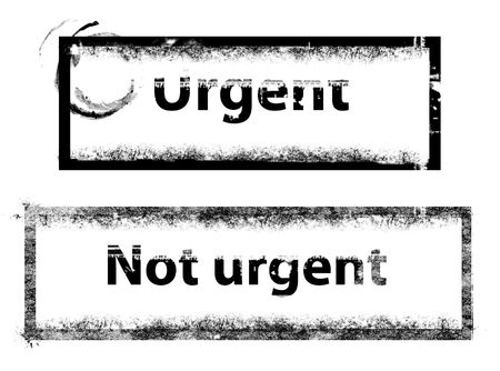 urgent stamp photo