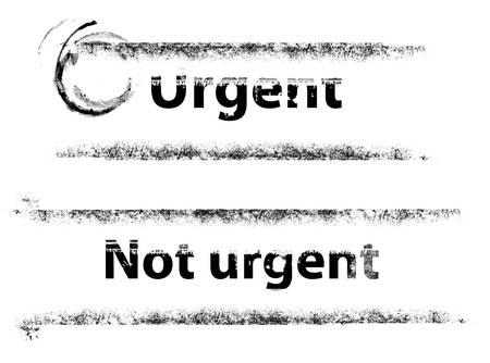 urgent: urgent stamp
