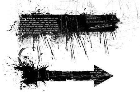 grunge arrow Stock Photo