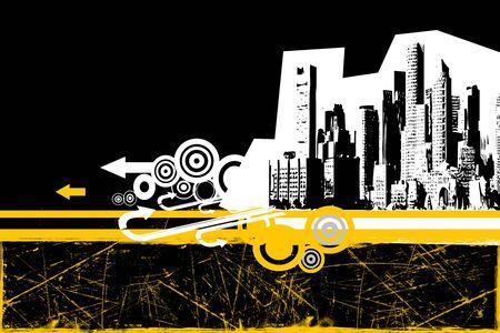 Illustration of city Stock Photo