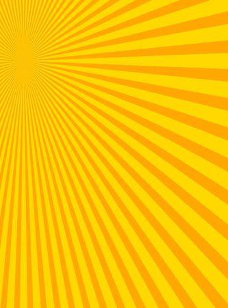Sunburst with yellow and orange colors