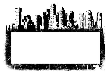 Illustration of city with text space