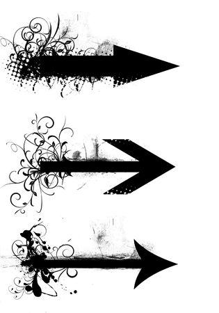 Grunge arrow Stock Photo - 2988919