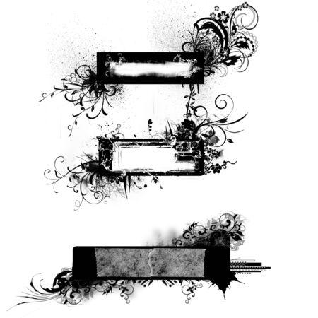 splashed: Grunge text space
