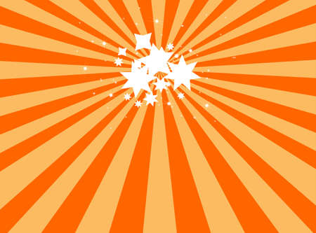 splotchy: Sunburst with star Stock Photo