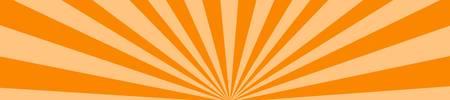 web banner in sunburst