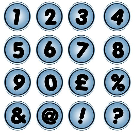 Number button , icons for pc Stock Photo - 3018187